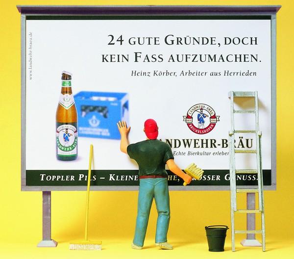Preiser 45126 - G - Plakattafel, Plakatkleber und Zubehör