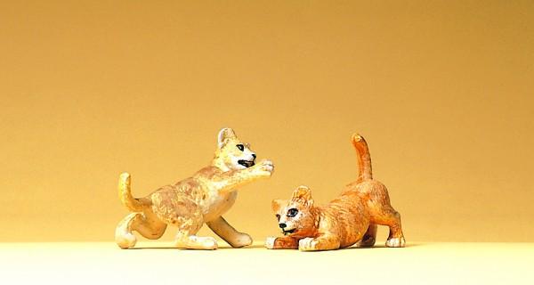 Preiser 47507 - 1:25 - 2 junge Löwen