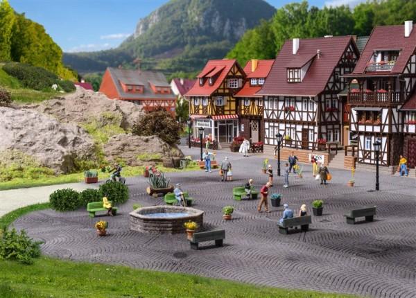 Vollmer 48270 - H0 - Steinkunst-Set Brunnen und Felsen - ***Auslaufartikel***