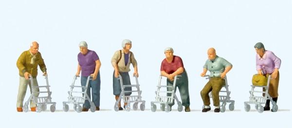 Preiser 10718 - H0 - Senioren mit Rollator